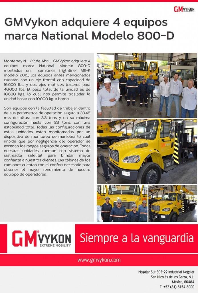 Nuestros equipos Marca National Modelo 800 D