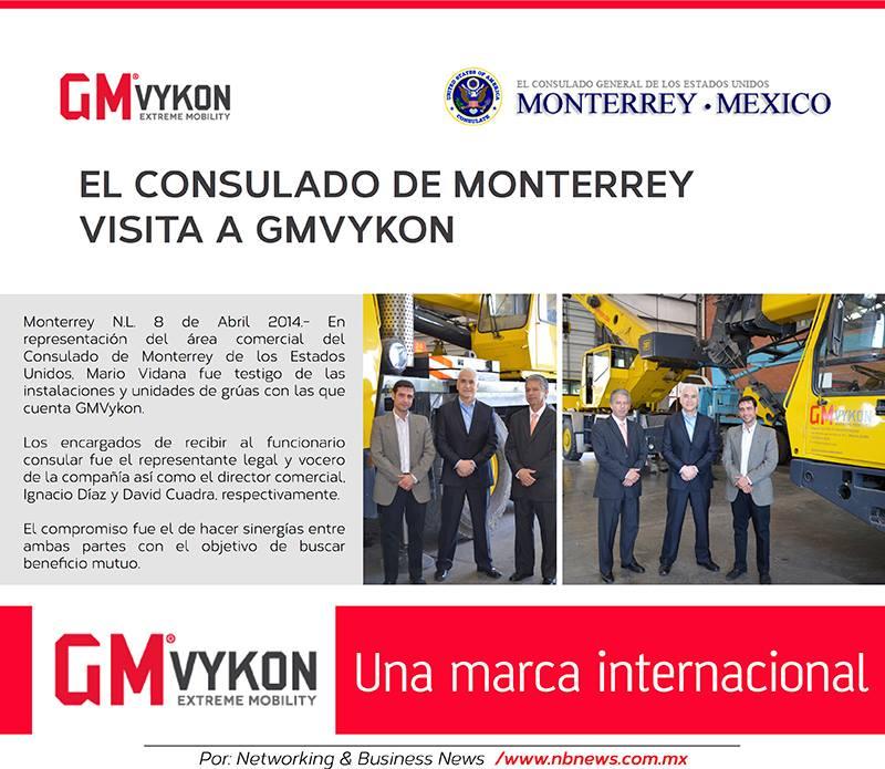 El consulado de monterrey visita GMVykon