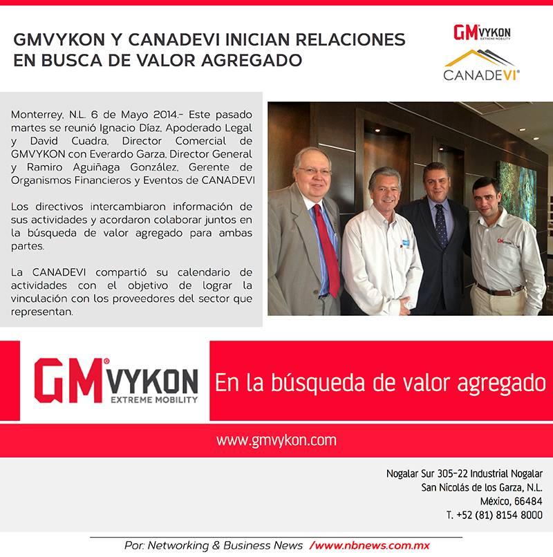 GMVykon y Canadevi iniciando relaciones empresariales
