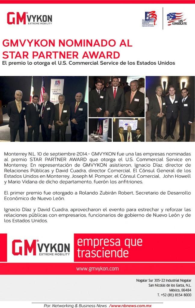GMVykon Nominado al Start Partner Award.