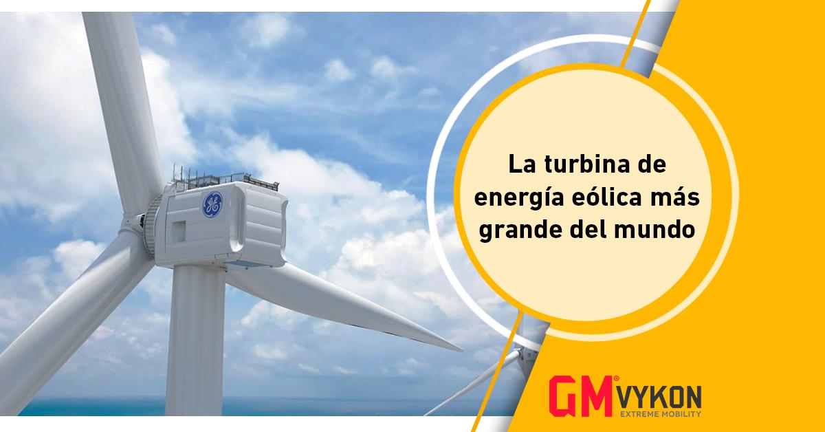 Haliade-X, la turbina de energía eólica más grande del mundo.
